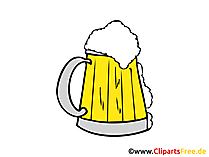 Bierkrug Bild, Clipart, Illustration, Grafik, Zeichnung kostenlos