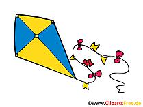 Drachen steigen lassen Bild, Clipart, Illustration, Grafik, Zeichnung