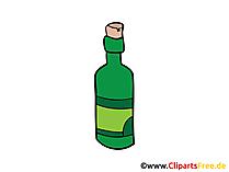 Flasche Wein Bild, Clipart, Illustration, Grafik gratis