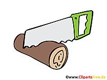Holz sägen Bild, Clipart, Illustration, Grafik, Zeichnung kostenlos