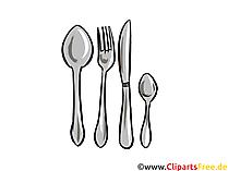 Besteck Clipart Küche
