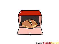 Brot backen Illustration, Clipart, Bild