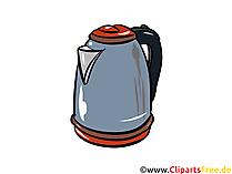 Elektrowasserkocher Illustration, Clipart, Bild