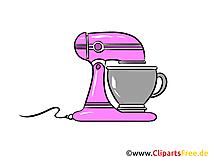 Küchenmaschine Illustration, Clipart, Bild