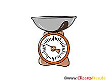Küchenwaage Illustration, Clipart, Bild