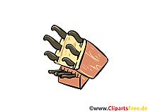 Messer-Set Küche Illustration, Clipart, Bild