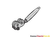 Messerschärfer Illustration, Clipart, Bild