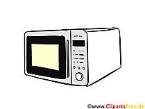 Mikrowelle Illustration, Clipart, Bild