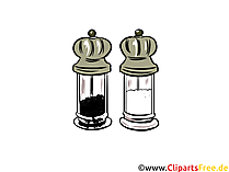 Pfeffer und Salz Illustration, Clipart, Bild