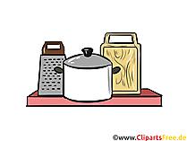 Regal in der Küche Illustration, Clipart, Bild