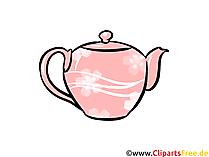 Teekanne Illustration, Clipart, Bild
