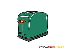 Toaster Illustration, Clipart, Bild