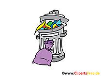 Müll Bild, Clipart, Illustration, Grafik, Zeichnung kostenlos