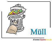 Mülltonne Clipart, Bild, Cartoon
