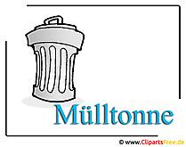 Mülltonne Grafik Clipart free
