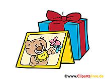 Present, Gift Clip Art, Cartoon, Image, Pic