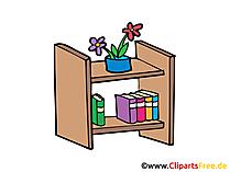 Regal Bild, Clipart, Illustration, Grafik, Zeichnung kostenlos