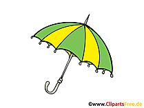 Regenschirm, Herbst, Unwetter Clipart, Bild, Illustration
