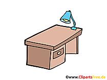 Schreibtisch Bild, Clipart, Illustration, Grafik, Zeichnung kostenlos