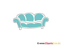 ソファのクリップアート