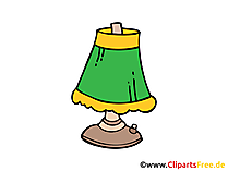Tischlampe Bild, Clipart, Illustration, Grafik, Zeichnung kostenlos