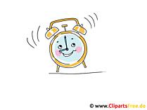 目覚まし時計のクリップアート