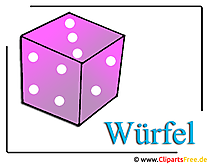Würfel Clipart-Grafik gratis