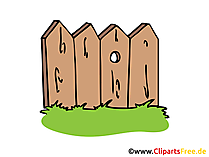 Zaun aus Holz Bild, Clipart, Illustration, Grafik gratis