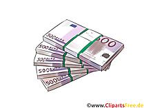 500ユーロ札、たくさんのお金のクリップアート、コミック、写真