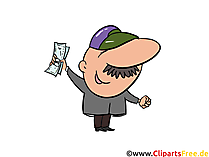 Aktienhandel, Broker Clip Art, Bild, Cartoon, Comic, Illustration, Grafik kostenlos