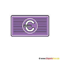 Afbeelding - clipart geld