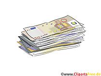 お金の請求書が付いている財政および投資クリップアート