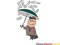 Geld-Regen Clip Art, Bild, Cartoon, Comic, Grafik kostenlos