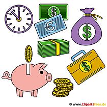 Geld clip art gratis