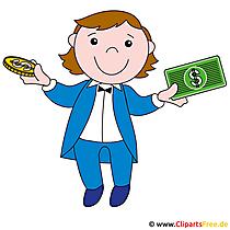 Geld machen - Clipart kostenlos