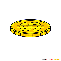 Gold - Muenze Clipart gratis