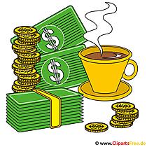 Koffiepauze clipart