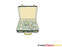 Koffer met geld Clipart