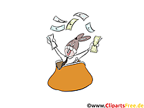 Money bag clipart, illustration, image, comic, cartoon