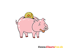 Piggy bank clip art free