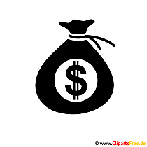 Zak met geldbeeld - vector clipart