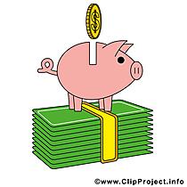 Piggy bank afbeelding - vector clipart