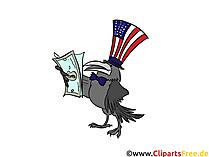 USA Dollars clip art, image, cartoon, comic, illustration, free graphic