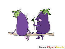 Cartoon aubergines