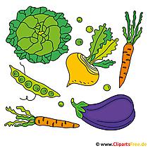 Gemüse Bilder zum Ausdrucken