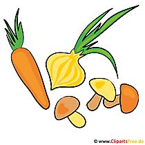 ネギ、ニンジン、キノコ - 野菜写真を無料で