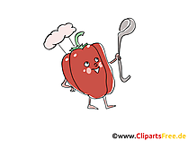 Paprika Clip Art, Illustration, Bild, Cartoon