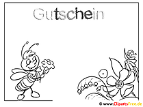 Malvorlage Gutschein