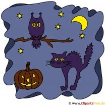 Basteln zu Halloween mit unseren Clipart-Bildern