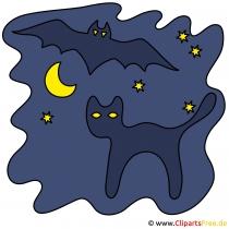 Clipart zu Halloween - Schwarzer Kater